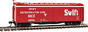 Walthers Mainline 41224 - HO 40ft Early Reefer - Swift Refrigerator Line SRLX #6180