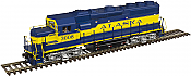 Atlas HO Scale 10002586 GP40-2 Phase 2 w/ESU Sound & DCC - Master Gold  Alaska No. 3008