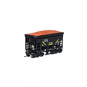 Athearn RND87146 HO - 24Ft Ribbed Ore Car w/Load - LS&I #1576