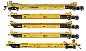 WalthersMainline 55628 HO - Thrall 5-Unit Rebuilt 40 Ft Well Car - Ready to Run - TTX - DDTX #748198 A-E