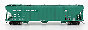 Intermountain 472205-04 HO Scale - 4785 PS2-CD Covered Hopper - Early End Frame - Penn Central - Green Repaint #886924