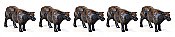 Walthers SceneMaster 6050 HO Beef Cattle (16 pk)