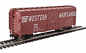 Walthers Mainline 2270 - HO 40ft ACF Welded Boxcar w/8ft Youngstown Door - Western Maryland #4393
