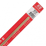 K&S Engineering 8168 All Scale - 0.081 inch Diameter Round Brass Rod - 12inch Long (3 pkg)