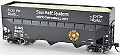Bowser 25977 - HO 70 Ton Offset Side Wood Chip Hopper - Sun Belt System #44726