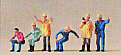 Preiser 10037 HO People Working - Crane Operators pkg(6)