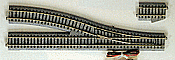 "Kato Unitrack 2-861 HO Scale Powered Turnout #6 Right Hand - 19-3/8"" 492mm; 34-1/8"" 867mm Radius EP867R"