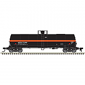 Atlas 20005617 HO 17,360 Gallon Chlorine Tank Car ACFX (black w/orange stripe) No.77347