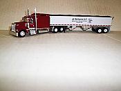 Trucks n Stuff TNS082 HO Kenworth W900L Sleeper-Cab Tractor w/Grain Trailer - J.K. Williams LLC
