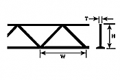 Plastruct 90413 - 9/32 inch Open Web Truss - Warren Style (2pcs)