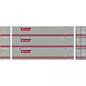 Athearn 26673 HO - RTR 53Ft Jindo Container, FXEU (3pkg)