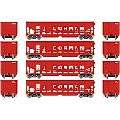 Athearn 14268 HO RTR 40ft OB Ballast Hopper/Load RJ Corman 4pk Set 1
