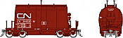 Rapido 143004-6 HO - Short Barrel Ore Hopper - CN Mineral Brown #346084