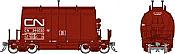 Rapido 143004-6 HO - Short Barrel Ore Hopper - CN Mineral Brown #346084