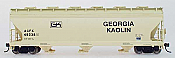 Intermountain Railway 47025-03 HO ACF 4650 Cubic Foot 3-Bay Hopper - Georgia Kaolin ACFX 49250