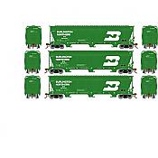 Athearn Genesis G15821 - HO ACF 4600 3-Bay Centerflow Hopper - Burlington Northern (3 pkg) #1