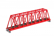 Kato Unitrack 20-430 N Scale Single Track Truss Bridge 248mm, Red