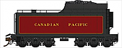 Rapido Trains 600092 HO Scale Canadian Pacific Royal Hudson 12,000 Gallon Tenders - Coal Tender w/Buckeye Trucks