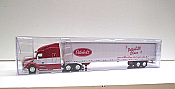 Trucks n Stuff TNS021 - HO Peterbilt 579 Sleeper Cab Tractor - 53ft Dry Van Trailer - Peterbilt Advertiser