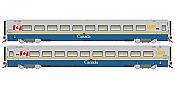 Rapido 108040 HO Scale LRC Coach VIA Canada Scheme Unnumbered - Pre Order