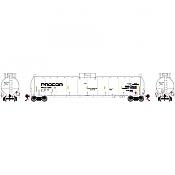 Athearn G25666 - HO RTR 33,900 Gallon LPG Tank/ Late - PROX #31884