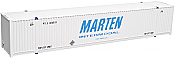 Atlas Model Railroad HO 20003004 CIMC 53' Cargo Container 3-Pack - Master Line  Marten Set #1