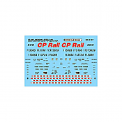 Microscale Decals 4137 HO - Canadian Pacific Center Flow Hopper (1994 - 1997)