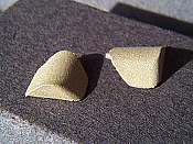 Miniatures By Eric C2 HO Scale parts - Brass RS18 Corner Pieces - pkg(4)