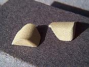 Miniatures By Eric C2 HO Scale parts - Brass RS18 Corner Pieces - pkg(4)
