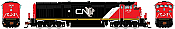 Rapido N Scale 540511 GE Dash 8-40CM - DCC & Sound Canadian National (North America) - 2452 - Taking Orders Now