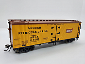 Rapido 121051-2 - HO 37ft General American Meat Reefer - Armour #11890