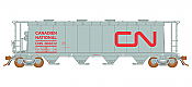 Rapido 127012 HO 3800 Cubic Feet Covered Hopper - CN International Service (as-delivered) (6pk) - Pre-order
