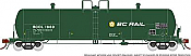 Rapido 135012-B HO Scale - Procor GP20 20K Gal Tank Car: BC Rail Large Logo - Company Service - Single Car #1963