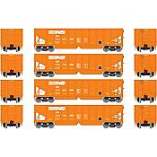 Athearn 14255 HO RTR 40ft OB Ballast Hopper/Load Norfolk Southern Set 1  4Pk