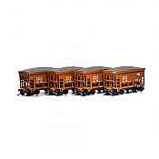 Athearn RND87129 HO - 24Ft Ribbed Ore Car w/Load - B&LE (4 pkg) #3