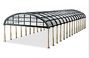 Peco LK20X HO Scale - Rounded Glass Trainshed Overall Roof - Kit