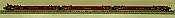 Deluxe Innovations 350301 N Scale Gunderson Maxi-Stack IV 3-Unit Intermodal Well Car - AOK III Transportation 55006