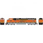 Athearn Genesis G64911 HO Scale - SD70MAC Diesel, w/ DCC & Sound - BNSF #9526