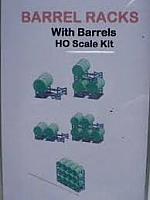 N.J International Barrel Racks with Barrels HO Scale kit