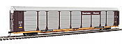 WalthersProto 101346 HO - 89ft Thrall Bi-Level Auto Carrier - Ready To Run - Southern Pacific Rack, TTGX Flatcar #255103
