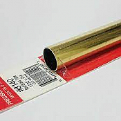 K&S Engineering 8140 All Scale - 17/32 inch OD Round Brass Tube 0.014inch Thick x 12inch Long