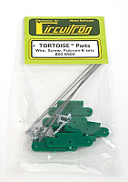 Circuitron 6500 - All Scale Tortoise Switch Machine Replacement Parts - Spring Wire, Retaining Screws & Fulcrum (6 Sets)