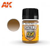 AK Interactive 076 NATO Tank Filter Enamel Paint 35 ml Dark Brown