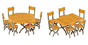 Walthers SceneMaster 4191 - HO Tables and Chairs (14pcs)