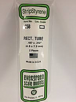 Evergreen Scale Models 258 - Opaque White Polystyrene Rectangular Tubing .188In x .312In x 14In (2 pcs pkg)