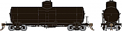 Rapido 159098 - HO Union X-3 Tankcar - Undecorated with KC Brakes