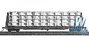 Jaeger 6805 HO Flat car load lumber Kit - Bennett Lumber for Walthers GSC 53 Ft Bulkhead  Flat Car