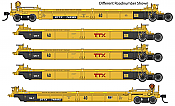 WalthersMainline 55633 HO - Thrall 5-Unit Rebuilt 40 Ft Well Car - Ready to Run - TTX - DDTX #748298 A-E
