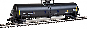 WalthersProto 100728 HO Scale 55 Trinity Modified 30,145-Gallon Tank Car - Ready to Run Trinity Industries Leasing TIMX #350017 (black, White Lettering, Yellow Conspicuity) 920-100728