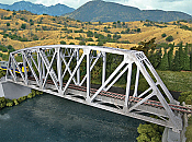 Walthers Cornerstone 4521 - HO Arched Pratt Truss Railroad Bridge - Single Track - Kit